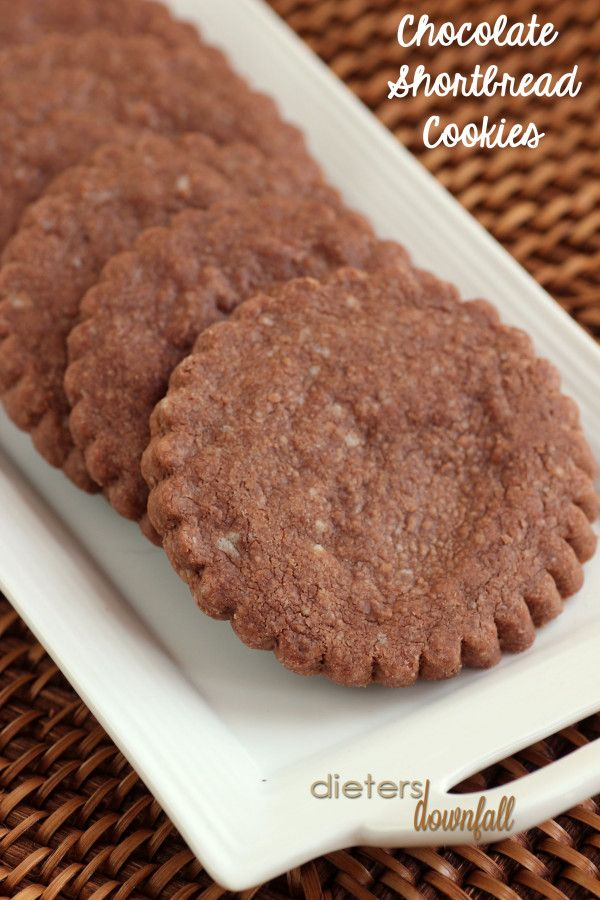 Chocolate Shortbread Cookies - top them with frosting or turn them ...