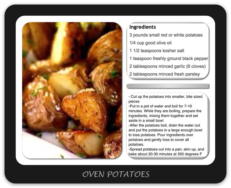 Oven Roasted Red Potatoes. Delicious! I had to leave them in the oven ...