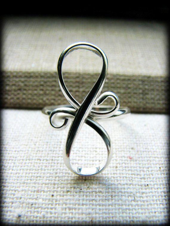 Infinity Ring Eternity Eternal Love Tattoo Design Sterling Silver ...