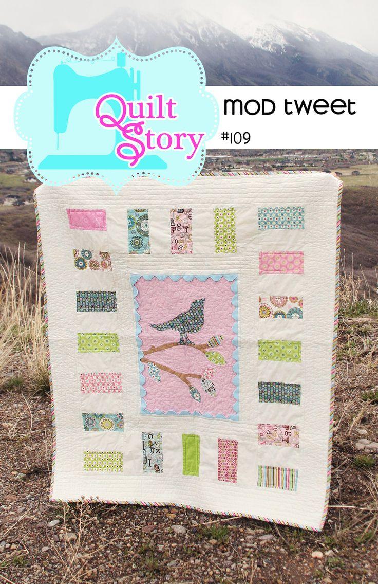 Quilt Pattern PDF bird easy applique modern simple baby patterns Mod  Modern Easy Baby Quilt Patterns