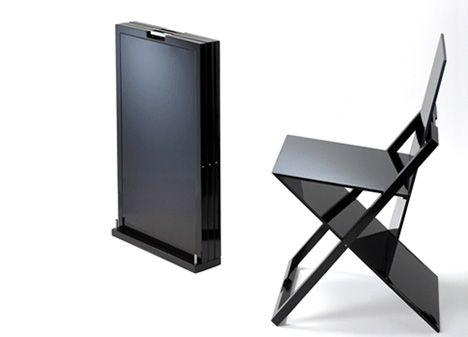 folding black chair