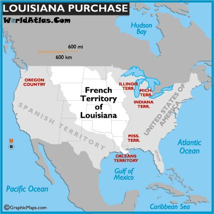 Map Of The Louisiana Purchase  History  Pinterest