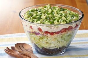 Layered Tex-Mex Taco Salad | Favorite Recipes | Pinterest