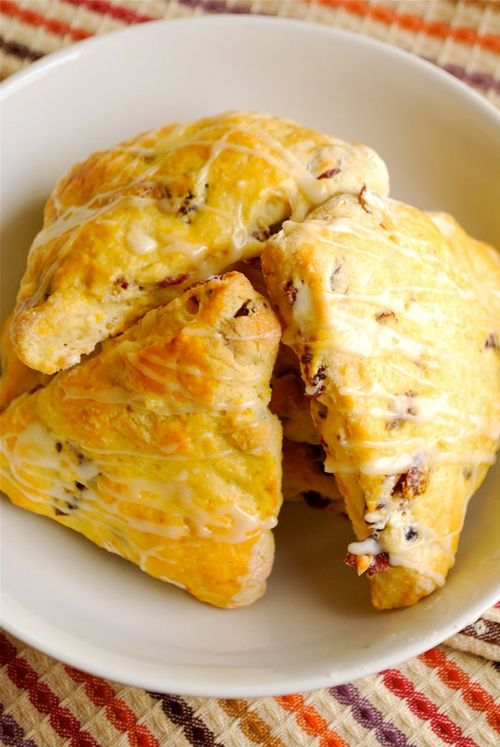 Cranberry Orange Scones made this for breakfast. Super easy and yummy ...