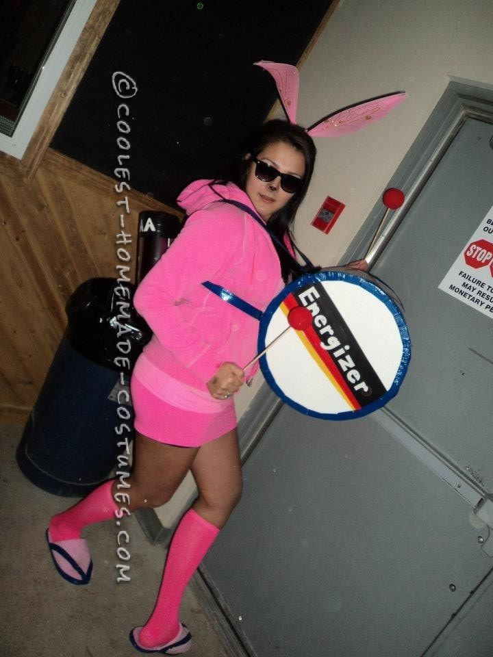 Awesome and Easy Homemade Energizer Bunny Costume for a Woman - Easy Awesome Halloween Costumes