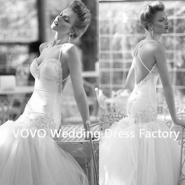 Halter fashion beaded with tulle luxury wedding dresses