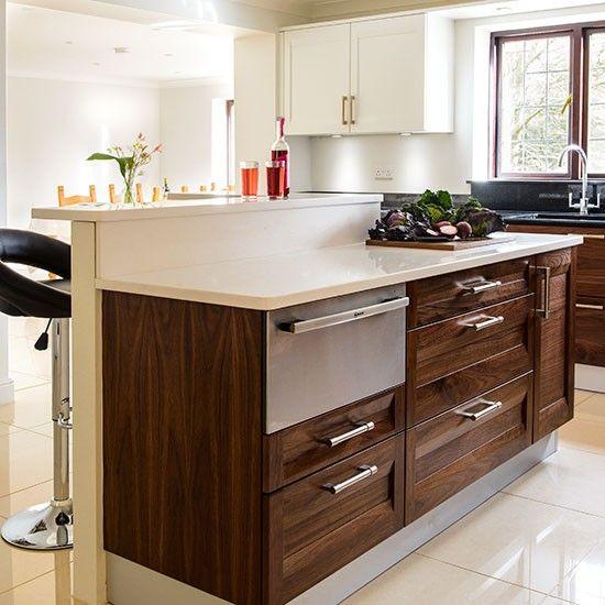 Walnut island kitchen  Kitchen decorating  Beautiful Kitchens