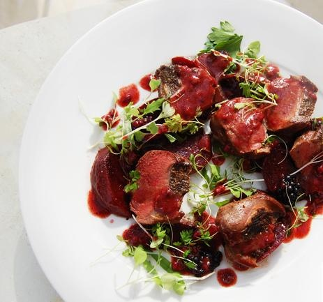 Pigeon Salad with Raspberries Recipe #stepbystep