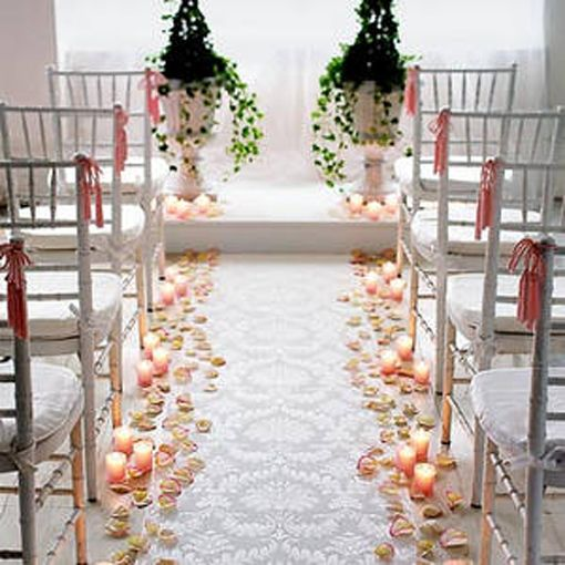 Wedding aisle decorations going down the aisle pinterest for Aisle wedding decoration ideas