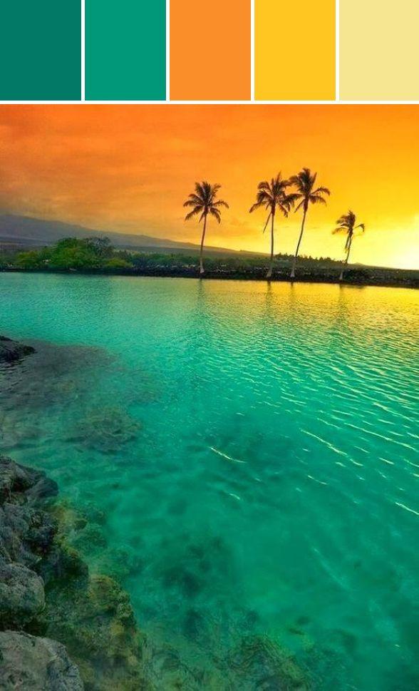 Sunset brights fresh color schemes pinterest for Tropical paint schemes