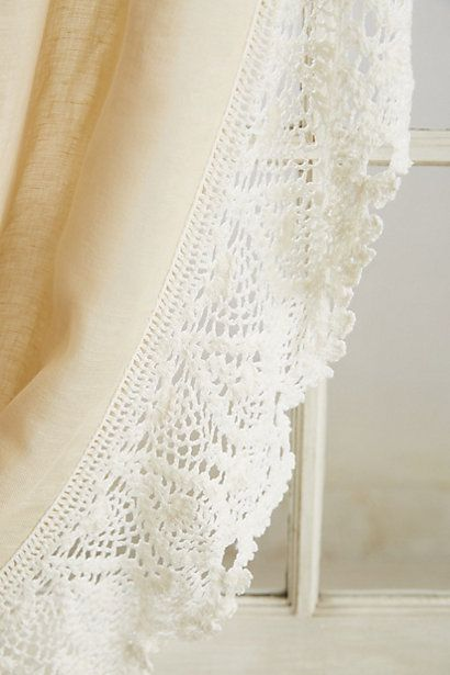 Ombre Lace Curtain - anthropologie.com | DIY decorating | Pinterest