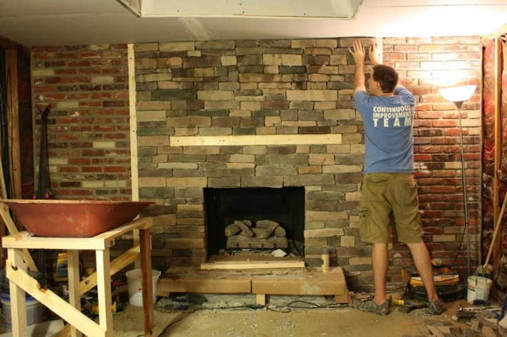 refacing a brick fireplace family room redo pinterest