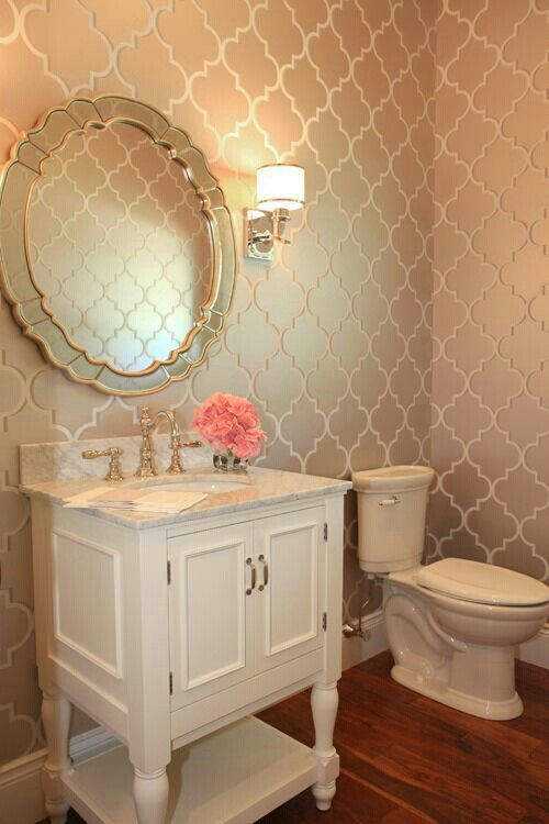 Half bath half bath pinterest for Pretty bathrooms
