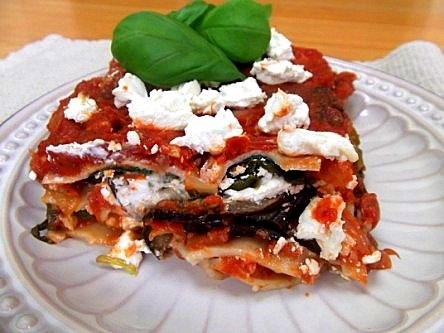 Chicken, Roasted Red Pepper And Goat Cheese Lasagna Recipe ...