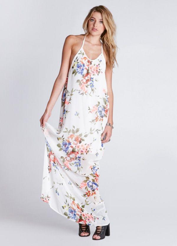 Women's #Fashion Clothing: Dresses: Desert Springs White #Floral Print
