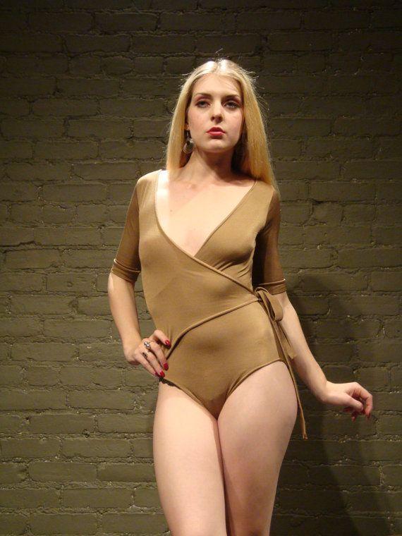 deep+v+bodysuit+70s+vintage+gayle+stretch+nylon+tan+by+syrupblack,+$39 ...: pinterest.com/pin/353251164494997078