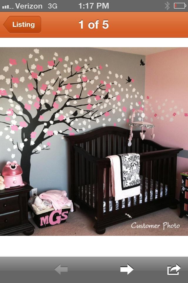 Nursery colors combinations : Baby girl nursery color scheme