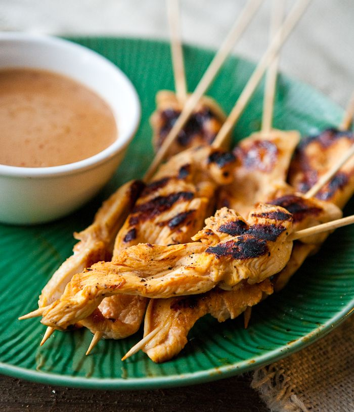 Chicken Satay | Things I want to consume | Pinterest