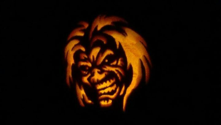 Iron Maiden Pumpkin Stencil My Home And Yours