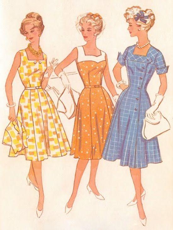 60s pattern vintage fashion