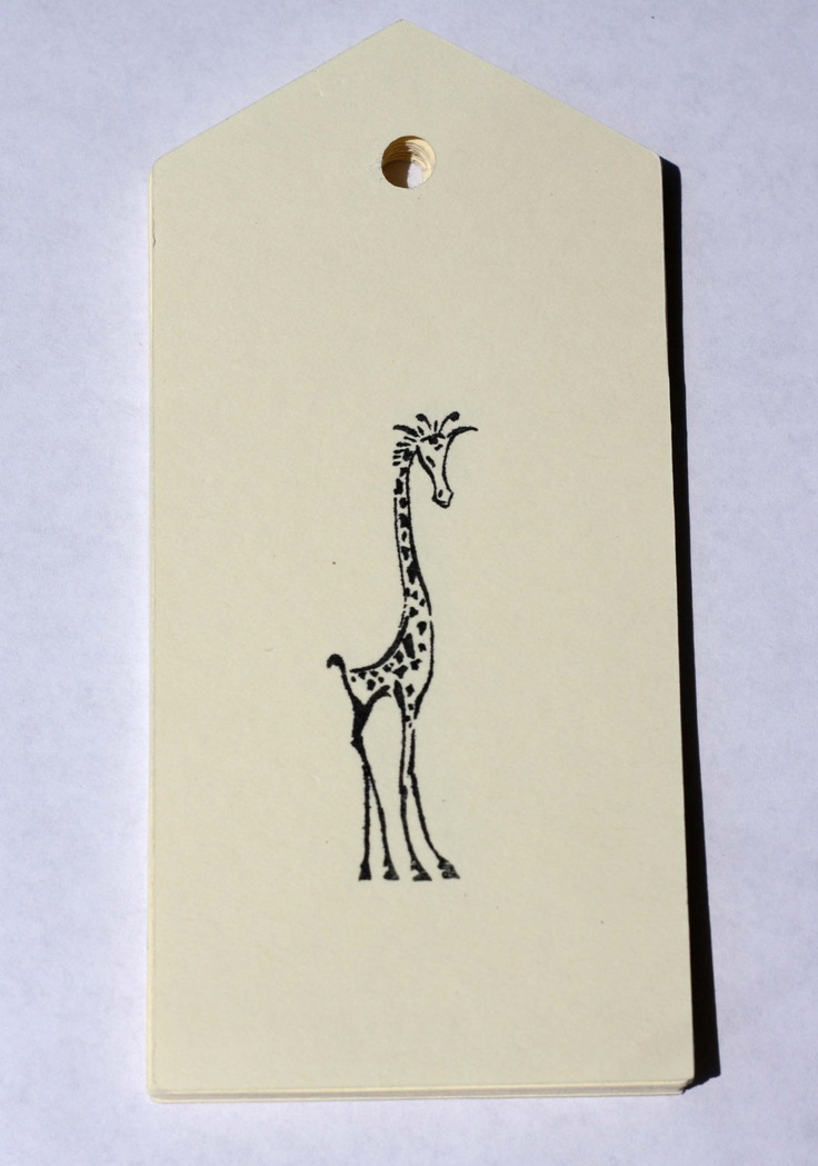 15 Giraffe Ivory Hang Tags Gift Tags Party Favors. USD5.00, via Etsy.