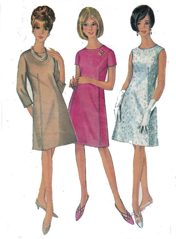 Vintage 1960s Shift Dress Sewing Pattern by allthepreciousthings, $7.00