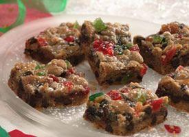Chocolate Chip Fruitcake Bars Recipe - Tablespoon