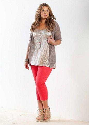 Fashion Plus Size - Large Size Womens Clothes, Tops & Dresses | Fashionable Plus Size Clothes - GLEAM TANK - Virtu