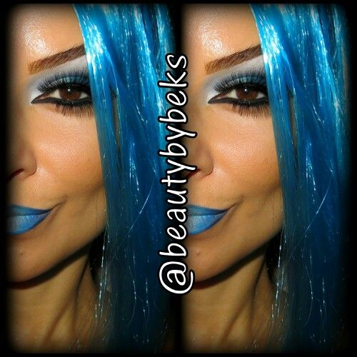 Blue makeup Halloween makeup HALLOWEEN Pinterest - Blue Halloween Makeup