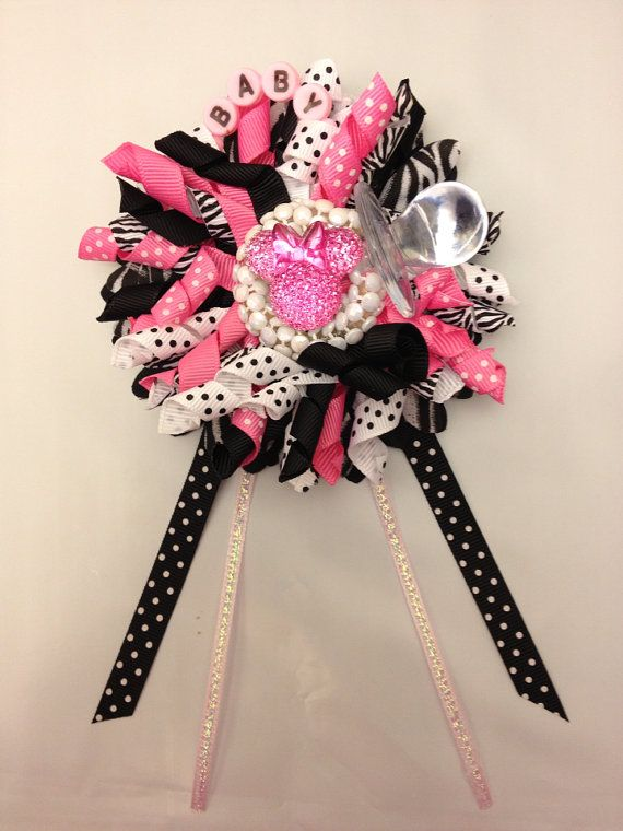 minnie mouse theme baby shower wrist corsage decorations favors gift