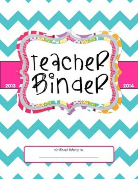 Binder Cover Template Teacher Binder Templates - Teacher binder ...