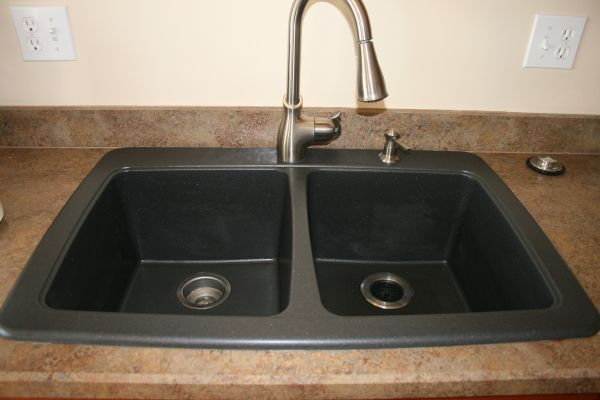 How To Clean A Blanco Composite Granite Sink : ... vinegar and baking soda paste to clean granite composite sinks is best