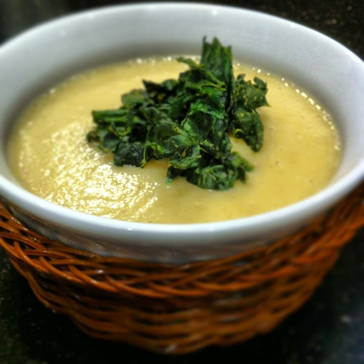 Cauliflower Soup with Kale Croutons   Healthy Meals and Things to Try ...
