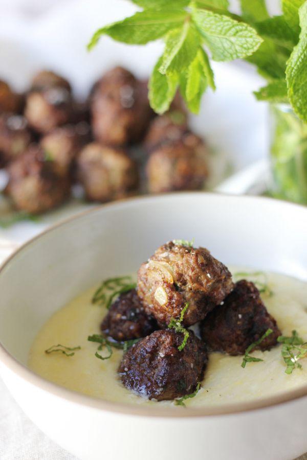 moroccan spiced lamb meatballs & polenta   nom nom nom   Pinterest