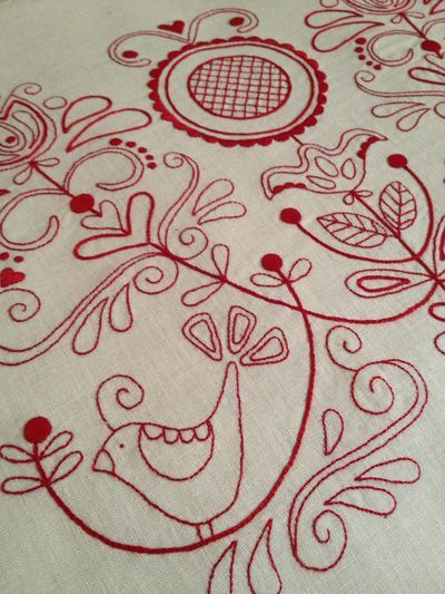 Red Embroidery  Beautiful Hand Embroidery  Pinterest