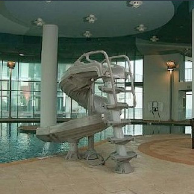 indoor pool with slide | Dream house! | Pinterest