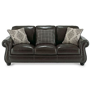 Kensington leather sofa jcpenney love it pinterest for Jcpenney leather sectional sofa