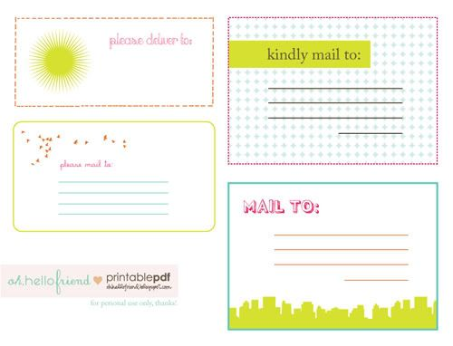 Free Printable Cute Mailing Labels : PRINTABLES : Pinterest