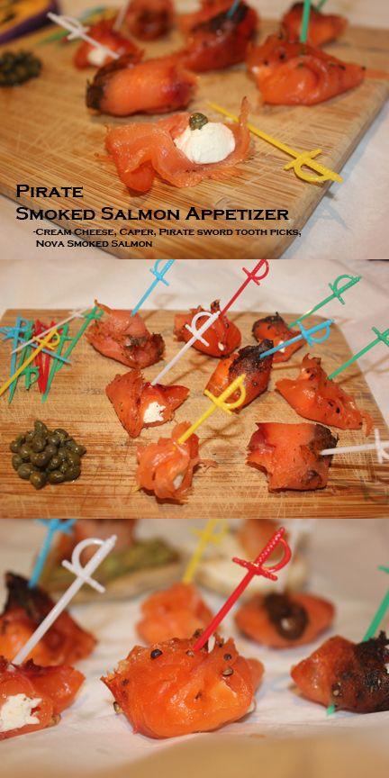 Smoked Salmon and Cream Cheese Pirate Bites