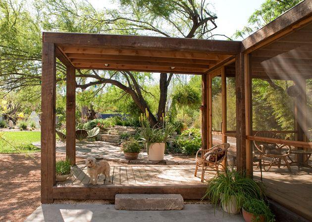 fotos jardins rusticos:Screened Porch