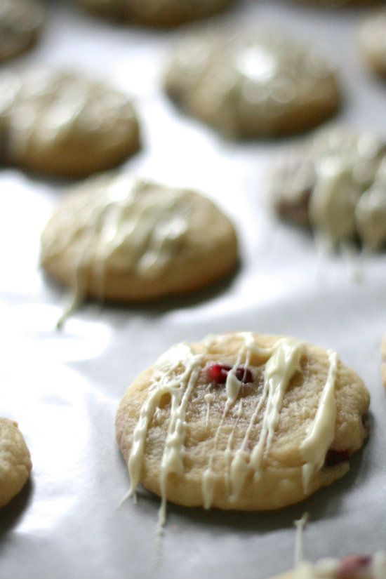 Pomegranate White Chocolate Sugar Cookies from Lauren's Latest