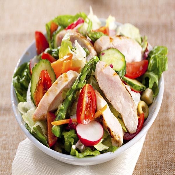 Sweet Chilli Chicken Salad | Salads | Pinterest