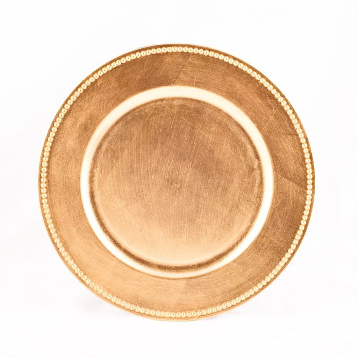 Gold Charger Plates 4 Pack 424468