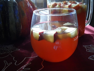 ... Pumpkin, Apple & Cranberry Sangria with Dark Spiced Rum (aka Kraken