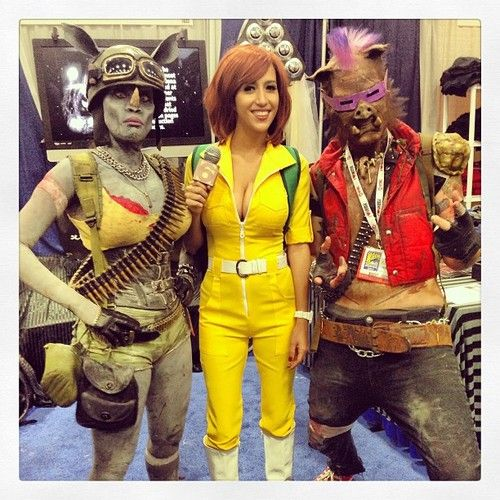 April with Rocksteady and Bee-Bop