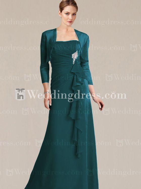 Modest Mother Of The Bride Dress Teal Dresses Pinterest