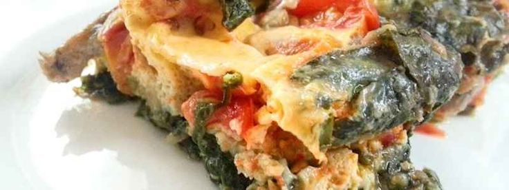 Paleo Breakfast Casserole Ideas: Baked Egg Spinach and Tomato.