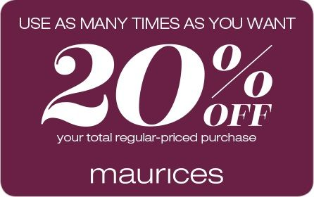 Maurices online coupon codes