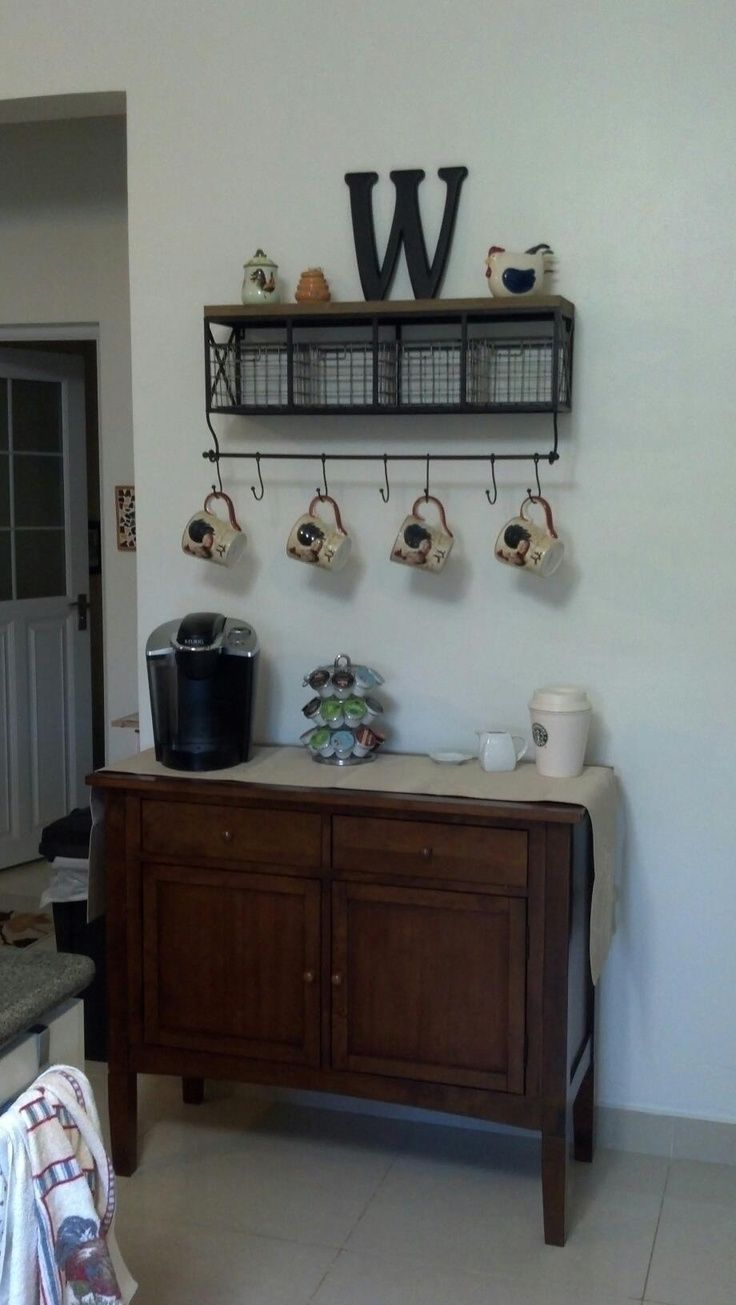 Coffee Bar Ideas For Your Kitchen Coffee Bars Pinterest