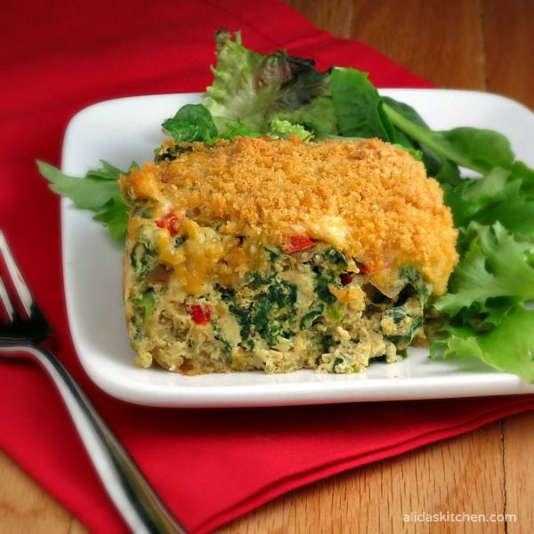 Southwestern Quinoa Egg Bake | alidaskitchen.com #recipes #brunch # ...